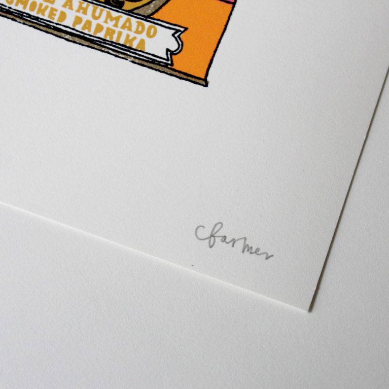 A Couple of Hotties Charlotte Farmer Print Club London Screen Print