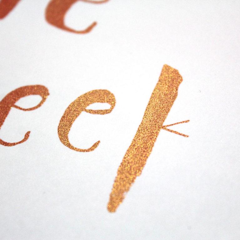 Be The Treasure You Seek Danielle Singer Moore Print Club London Screen Print