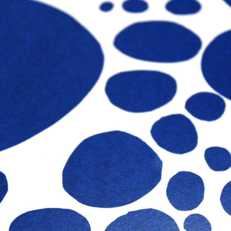 Bubbles Blue Nadja Lavin Print Club London Screen Print