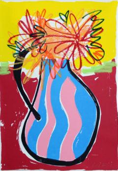Dahlias from Etna Rose Electra Harris Print Club London Screen Print