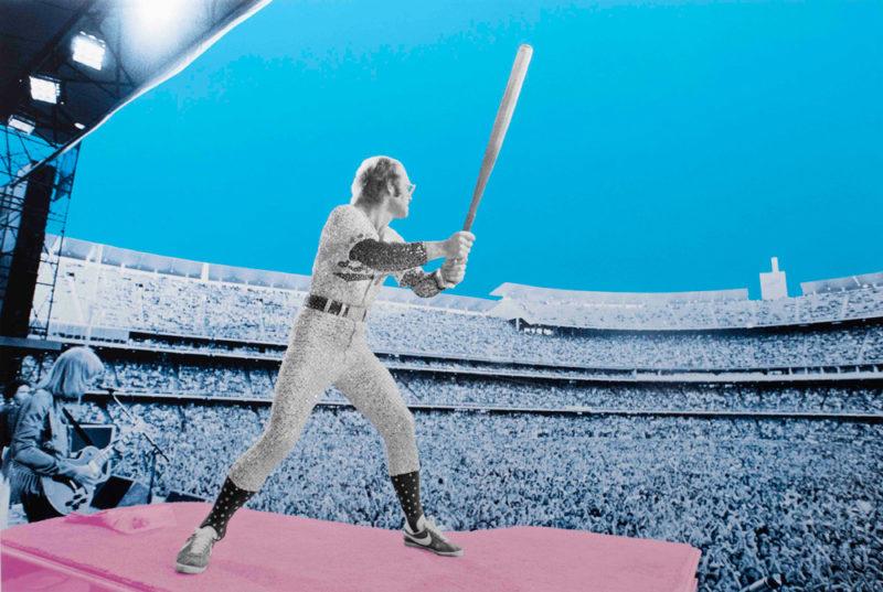 Elton John: Home Run-Dodger Stadium 1975 David Studwell Print Club London Screen Print