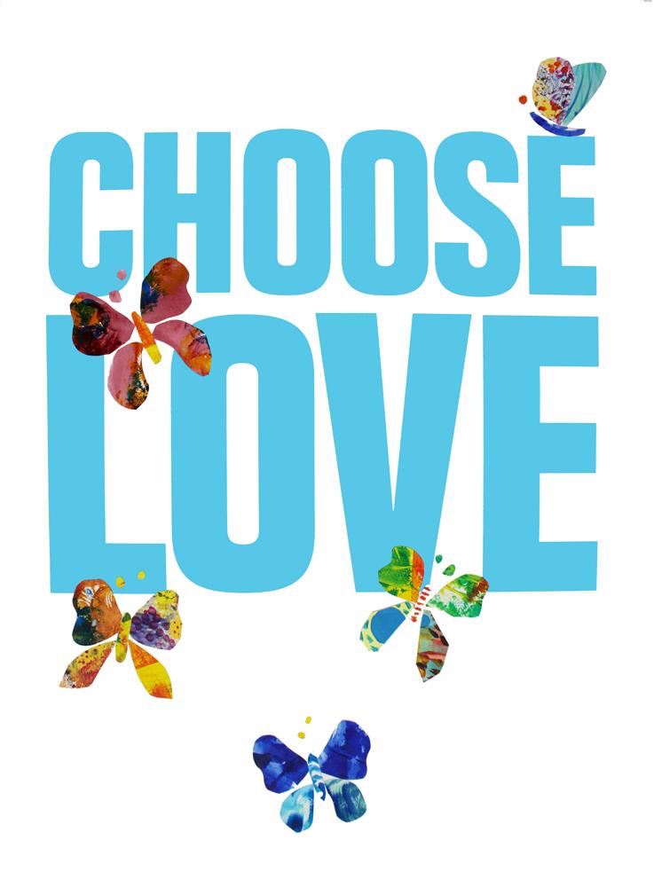 Indra Gersone Choose Love Help Refugees Print Club London Screen Print