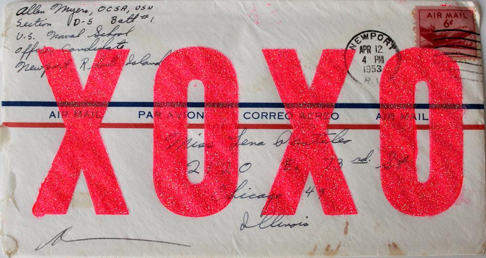 Love Letter Envelope Dave Buonaguidi Print Club London Screen Print