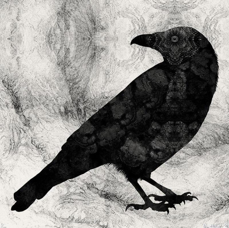 Raven Dan Hillier Print Club London Screen Print