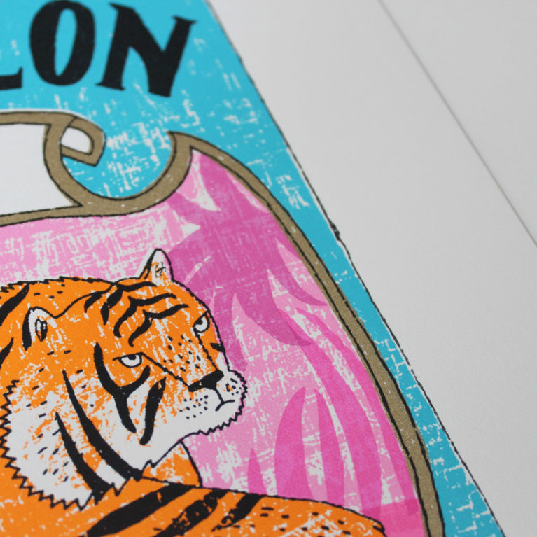 Tiger Tea Charlotte Farmer Print Club London Screen Print