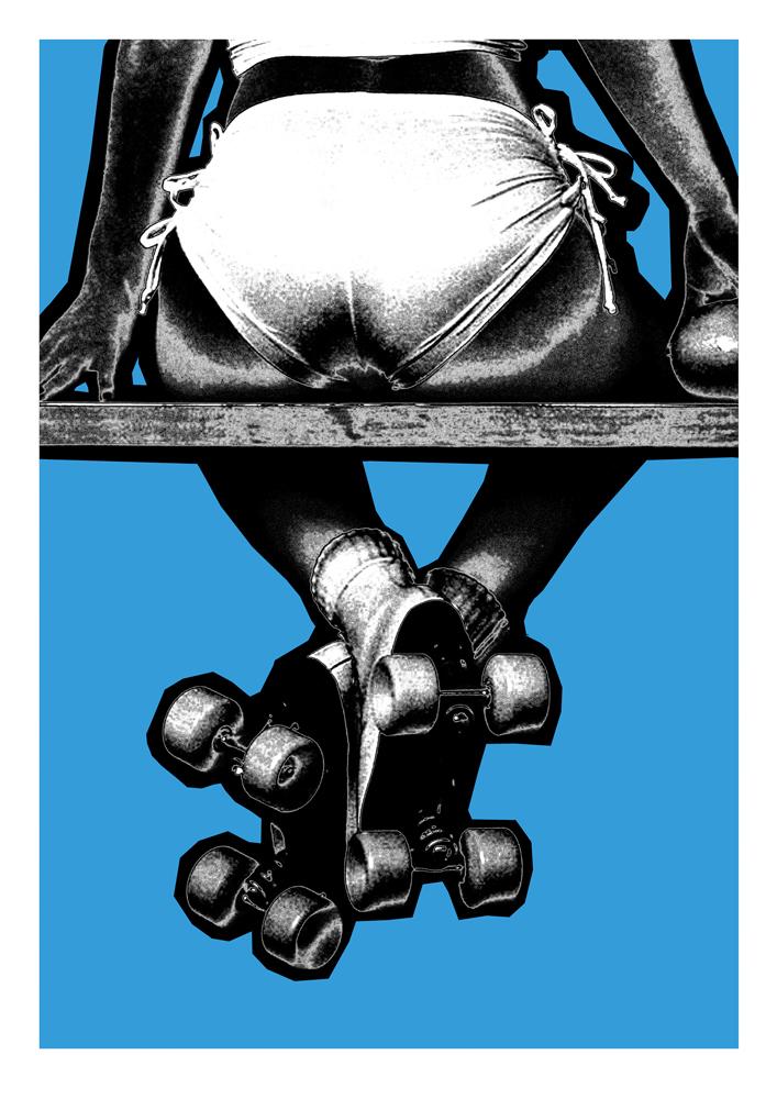 Pample Blue Oli Fowler Print Club London Screen Print