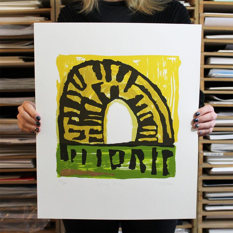 Spring Arch Justine Ellis Print Club London Screen Print