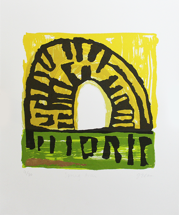 Spring Arch Justine Ellis Print Club London Screen Print