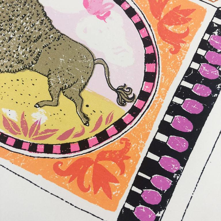Skipping Buffalo Charlotte Farmer Print Club London Screen Print