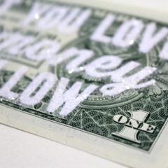 Do What You Love & The Money Will Follow Diamond Dust Dave Buonaguidi Print Club London Screen Print