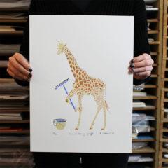 Window Cleaning Giraffe Print Club London Liz Whiteman Smith Print Club