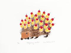 Hedgehog Waiter Liz Whiteman Smith Print Club London Screen Print