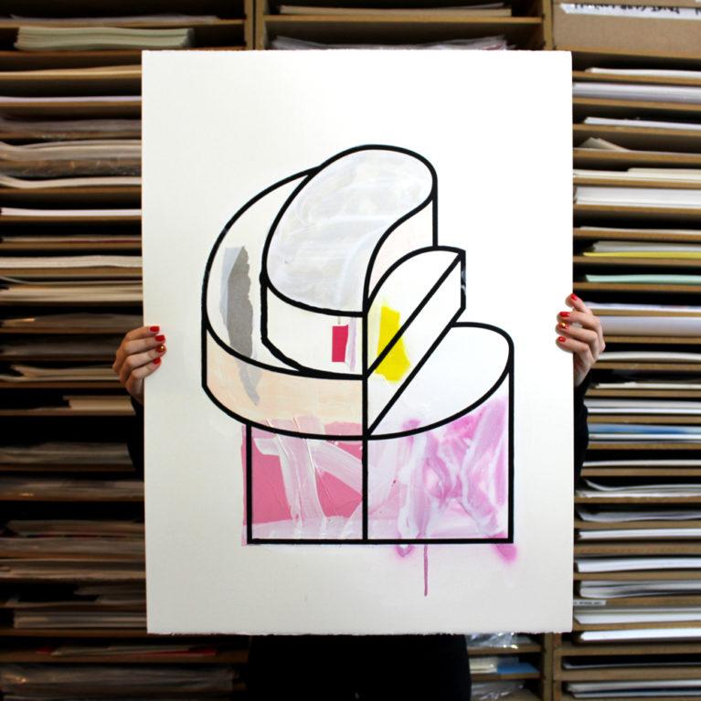 3:30, Three Series, Thirty Works Two Javi Cazenave Print Club London Screen Print