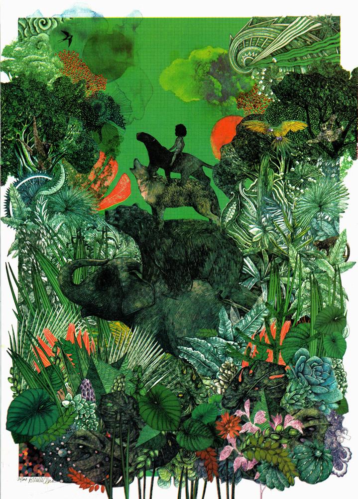 Jungle Book Lucille Clerc Print Club London Screen Print