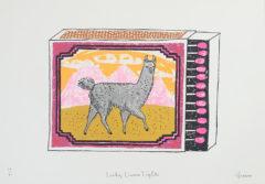 Llama Lights Charlotte Farmer Print Club London Screen Print