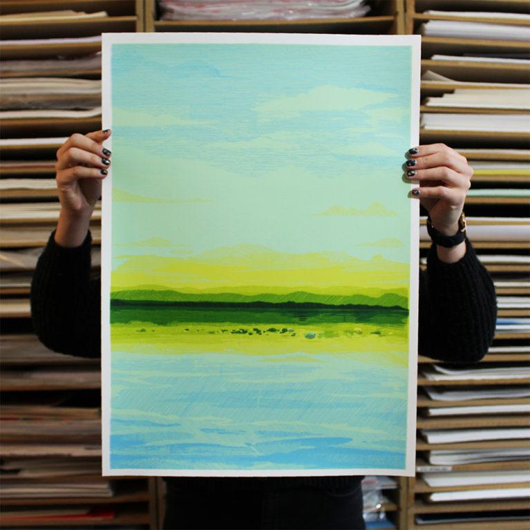 Seascape Lucille Clerc Print Club London Screen Print