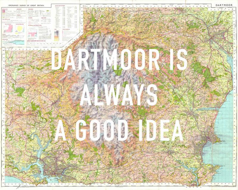 Dartmoor is Always a Good Idea Dave Buonaguidi Print Club London Screen Print