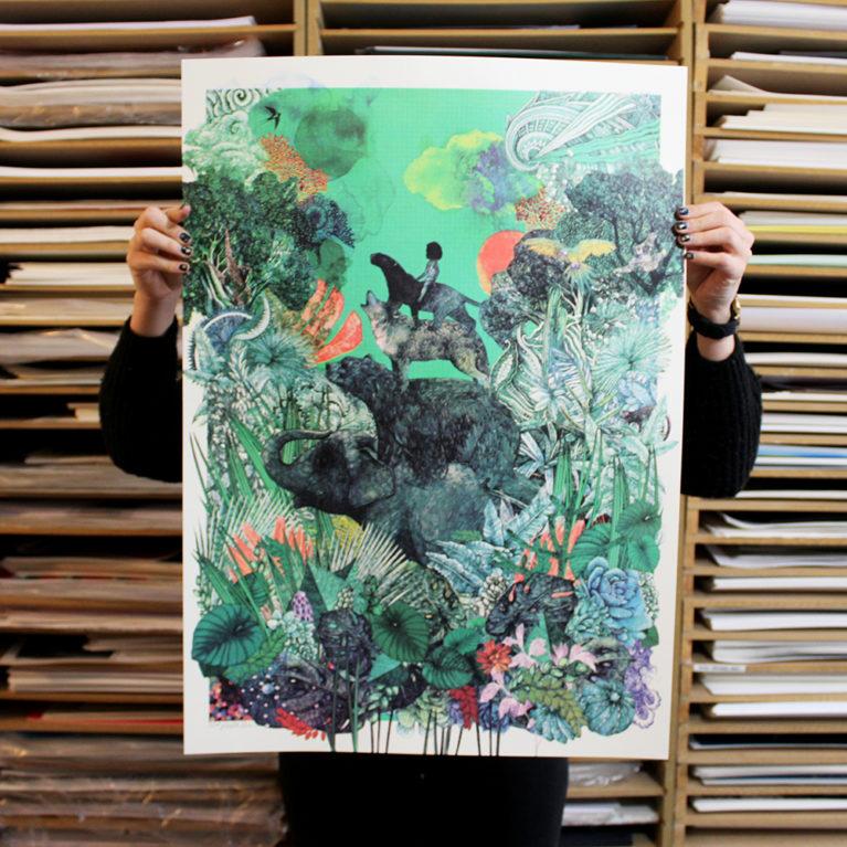 The Jungle Book Aqua Green Lucille Clerc Print Club London Screen Print