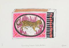 Crouching Leopard Charlotte Farmer Print Club London Screen Print