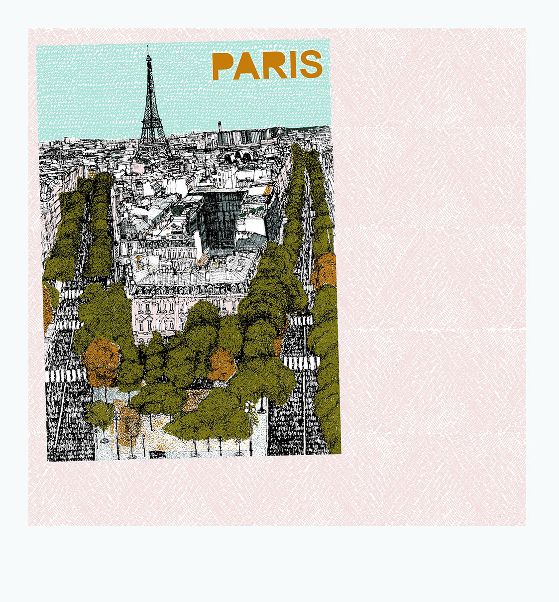 Petit Paris Clare Halifax Print Club London Screen Print