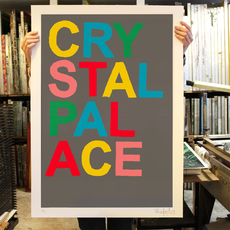 Crystal Palace Oli Fowler Print Club London Screen Print