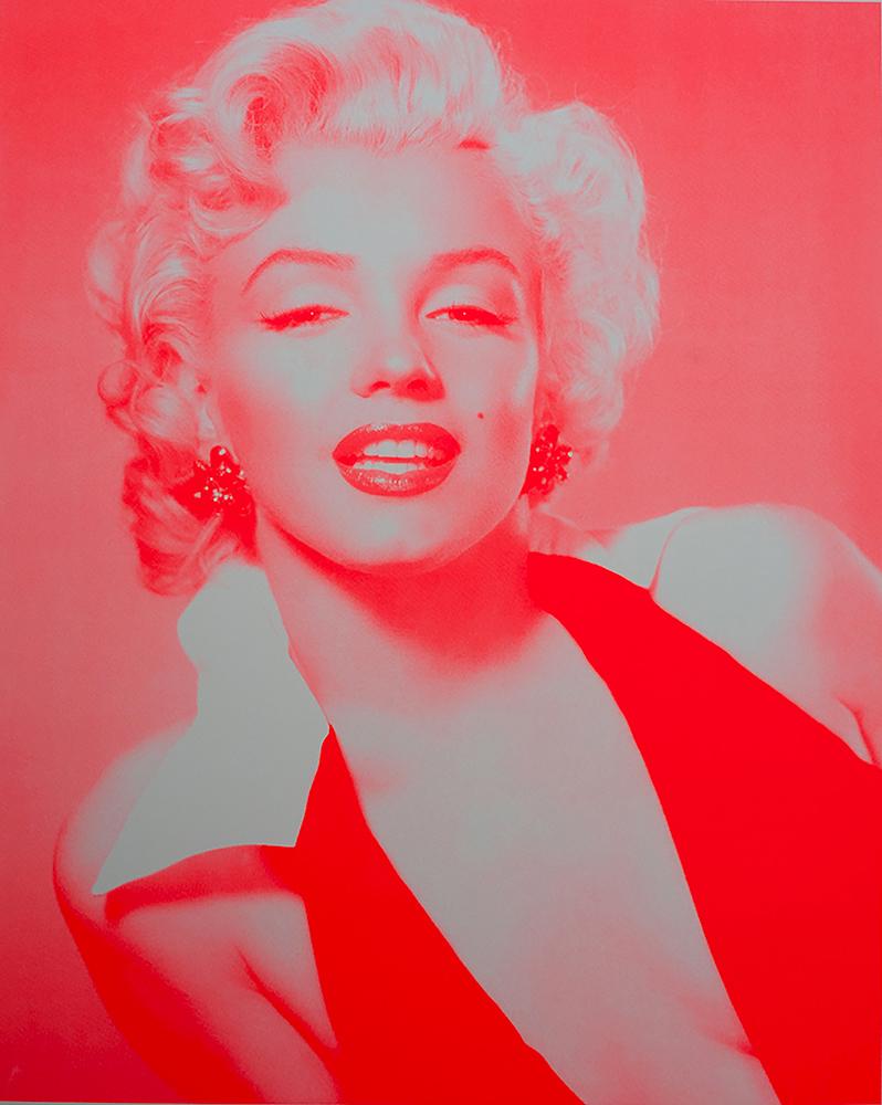 Marilyn Monroe-Neon Red David Studwell Print Club London Screenprint