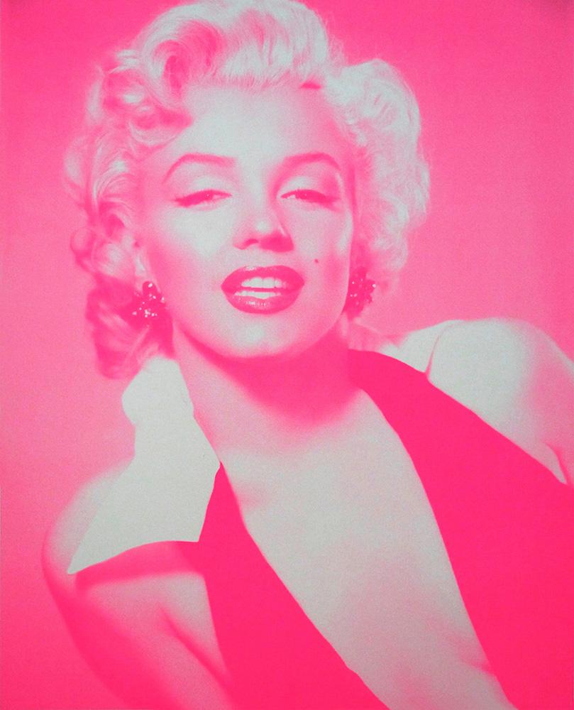 Marilyn Monroe candy floss pink Print Club London Screen Print