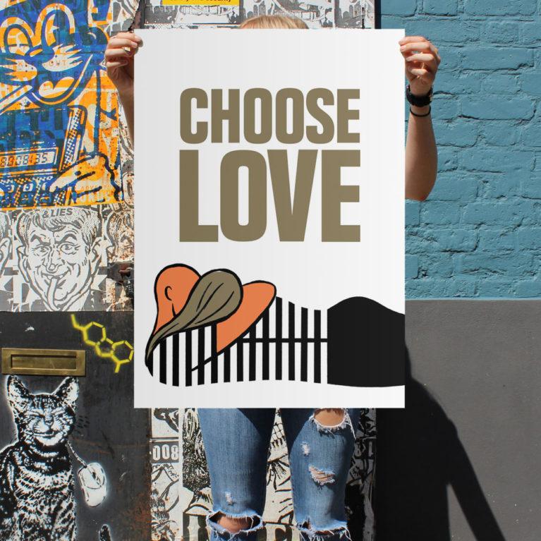 Paul Thurlby Print Club London Choose Love Digital Print