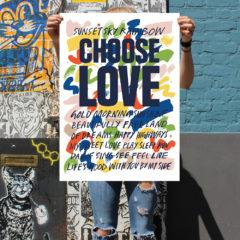 Rose Stallard Print Club London Choose Love Digital Print