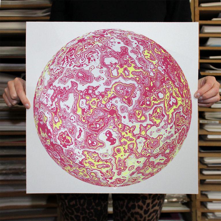 Sphere Chris Keegan Print Club London Screen Print