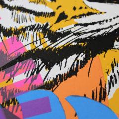 Caitlin Parks Tropical Tiger Print Club London Screen Print