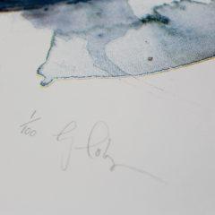 Blue Whale Gavin Dobson Print Club London Screen Print