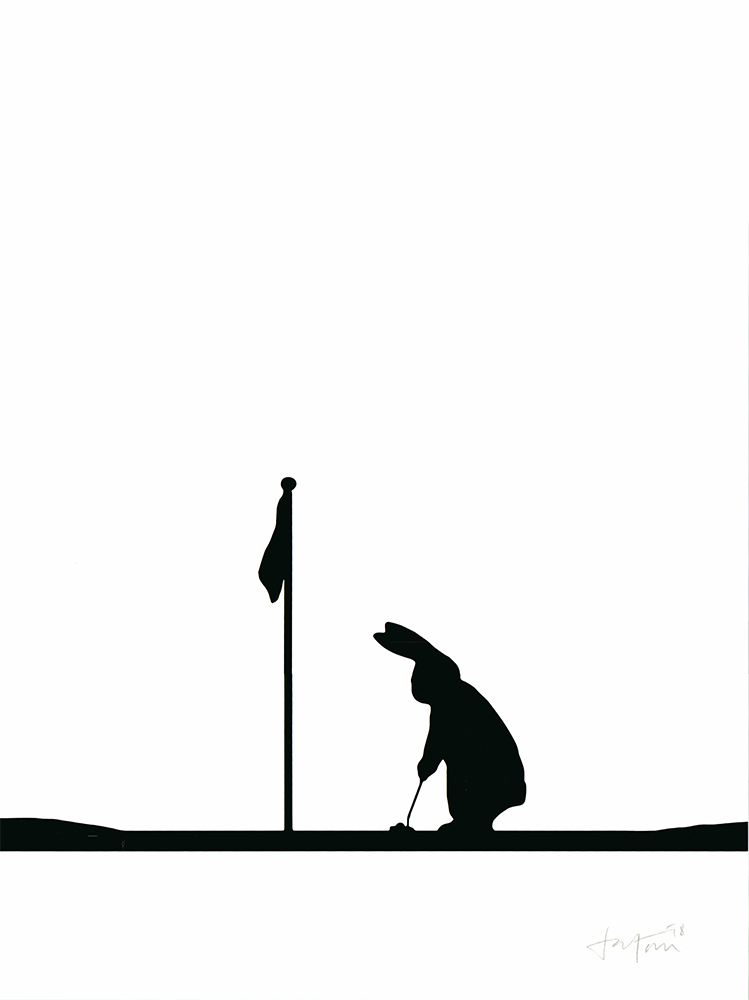 Golfing Rabbit Ham Print Club London Screen Print