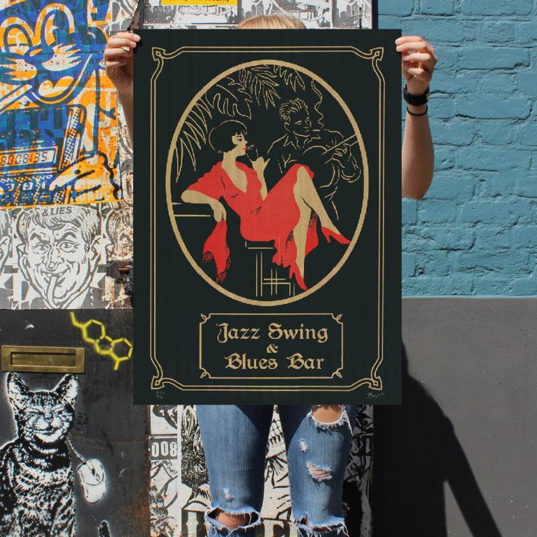 Jazz Bar El Marquès Print Club London Screen Print