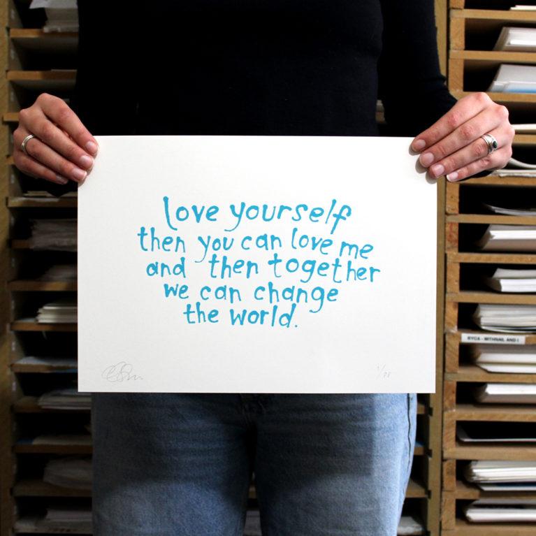 Two Minute Love Danielle Singer Moore Print Club London Screen Print