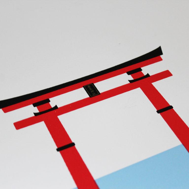 Itsukushima Shrine Ricky Byrne Print Club London Screen Print