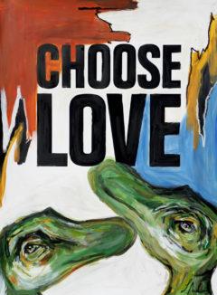 Layla Andrews Choose Love Print Club London Screen Print Help Refugees