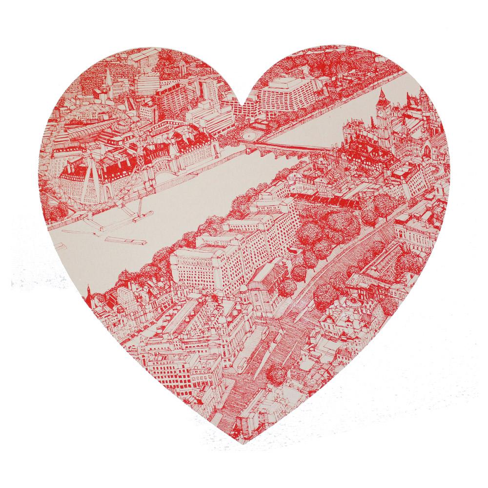 A London Love Clare Halifax Print Club London Screen Print