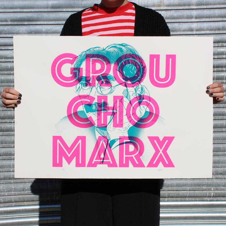 Groucho Marx Luke Pantelidou Print Club London Screen Print