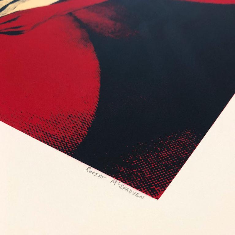 Red Right Hand Robert McSpadyen Print Club London Screen Print